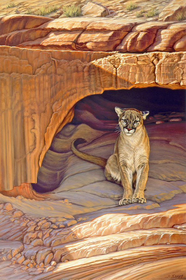 Wildlife Painting - Lady Of The Canyon by Paul Krapf
