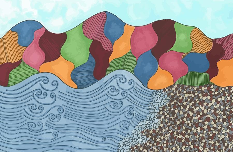 Landscape Drawing - Lady Of The Lake by Jill Lenzmeier