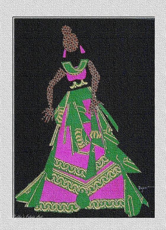 Lady Tapestry - Textile - Lady Singer by Ruth Yvonne Ash