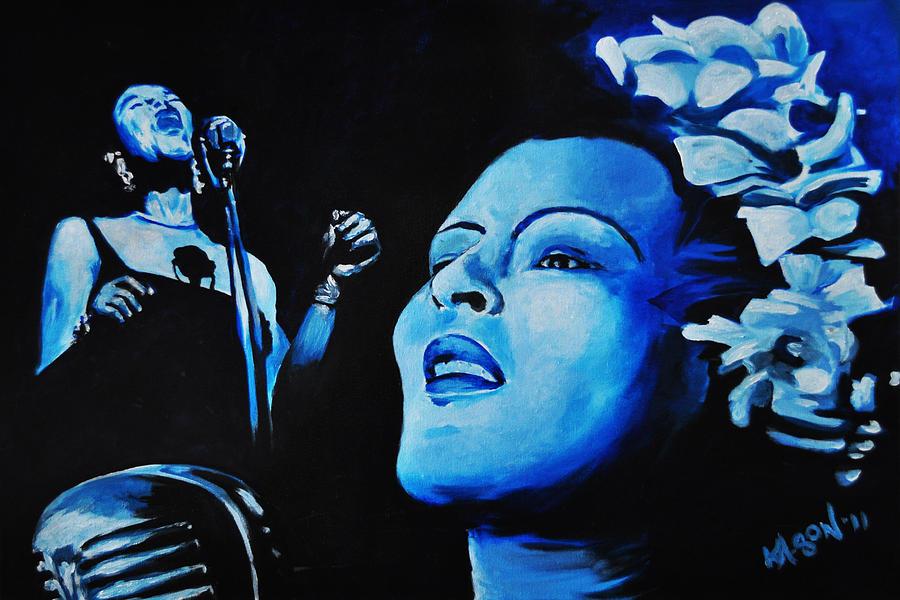 Billie Painting - Lady Sings The Blues by Ka-Son Reeves