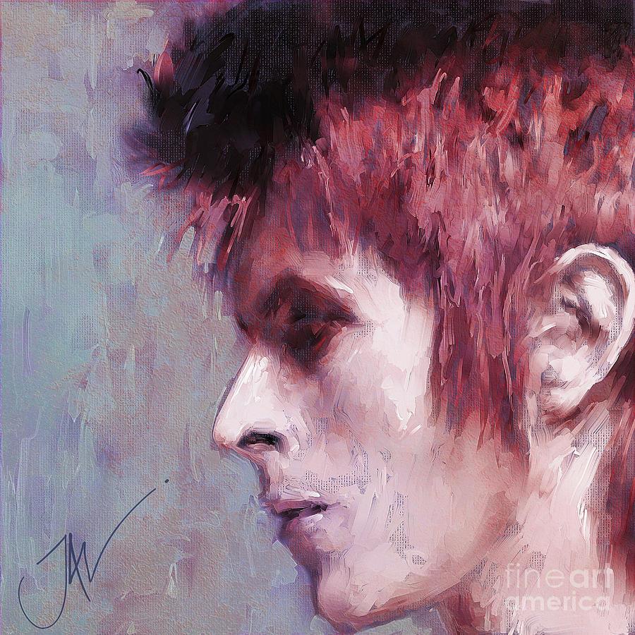 David Bowie Digital Art - Lady Stardust by John Lowther
