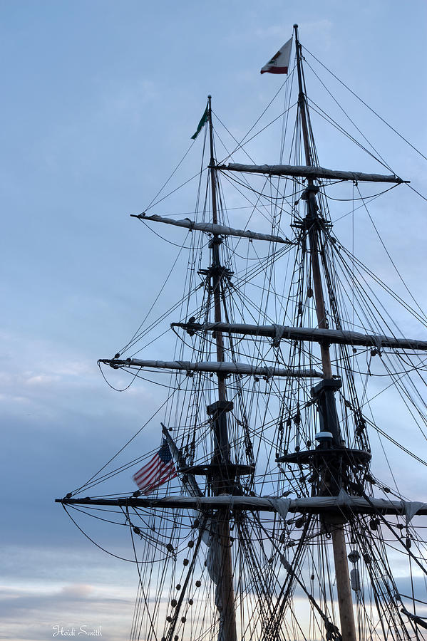 Washington Photograph - Lady Washingtons Masts by Heidi Smith