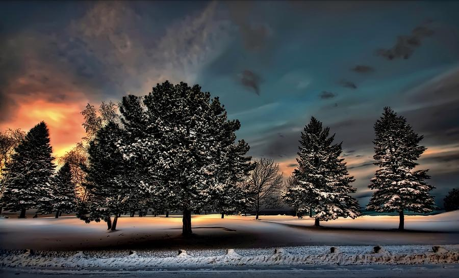 Chilly Digital Art - Lady winter  bringing a cold snap by Jeff S PhotoArt