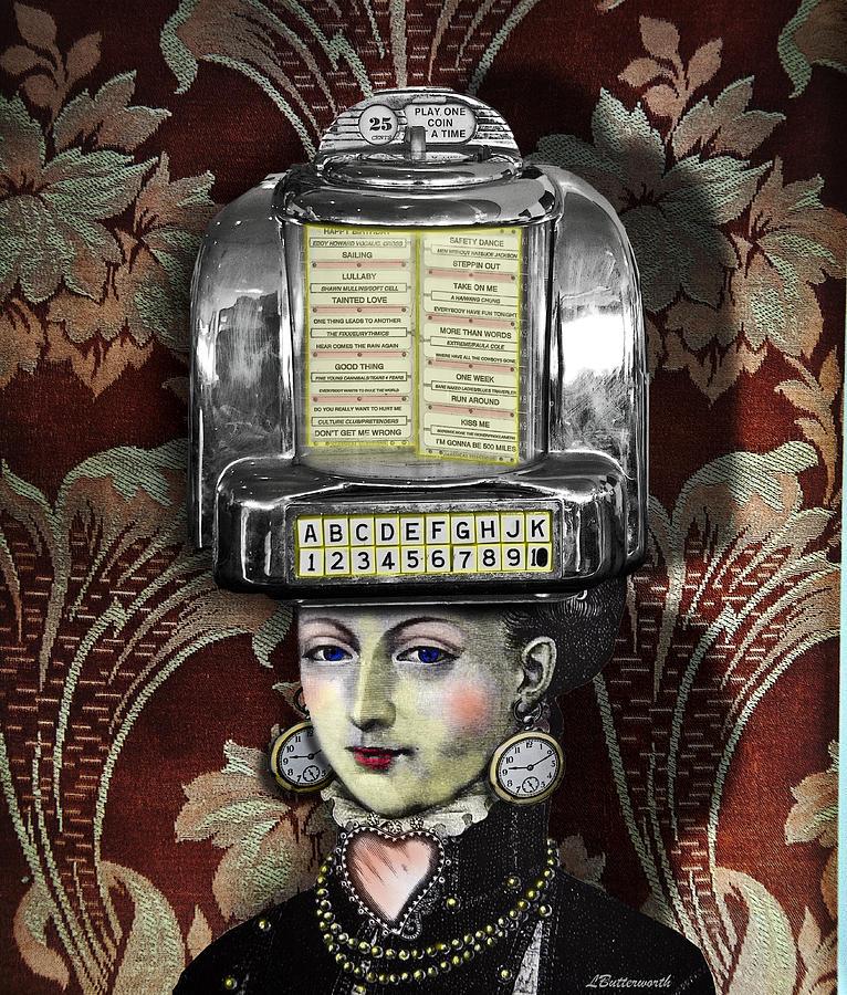 Steampunk Digital Art - Lady Wurlitzer by Larry Butterworth
