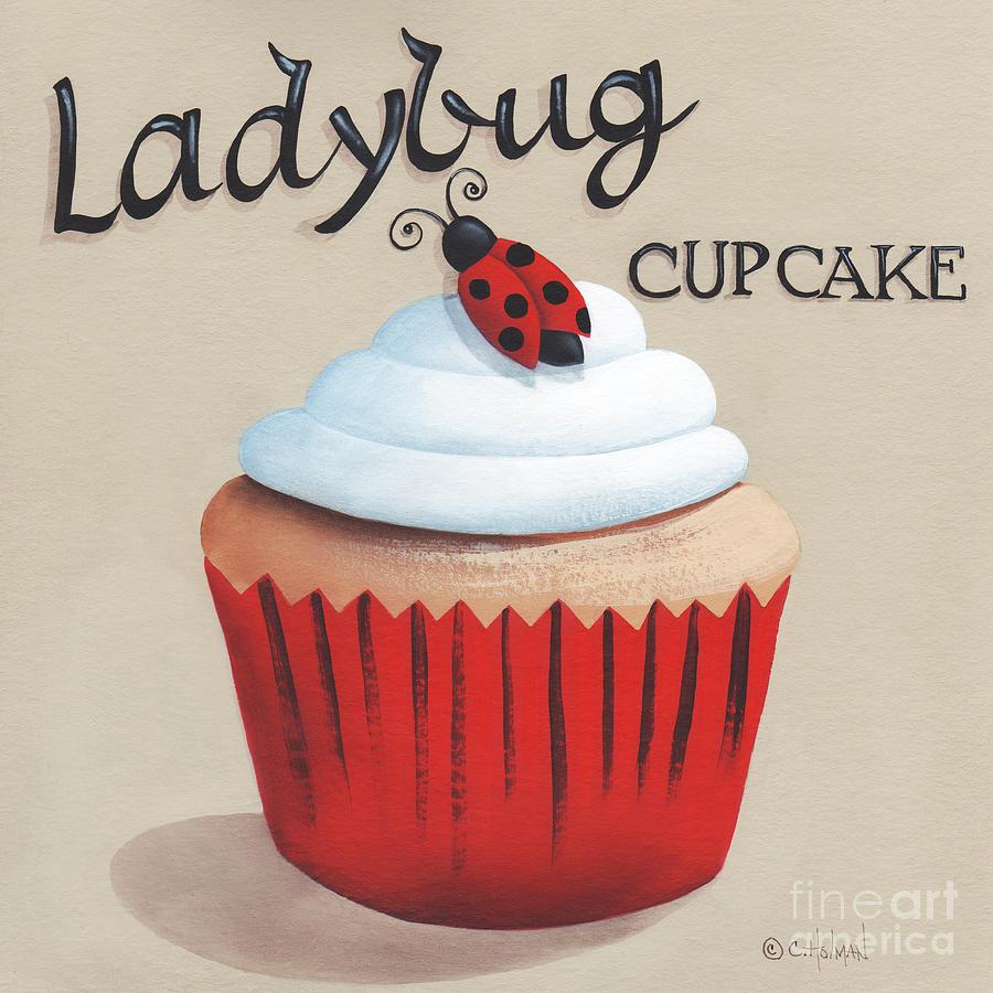 Cupcake Painting - Ladybug Cupcake by Catherine Holman