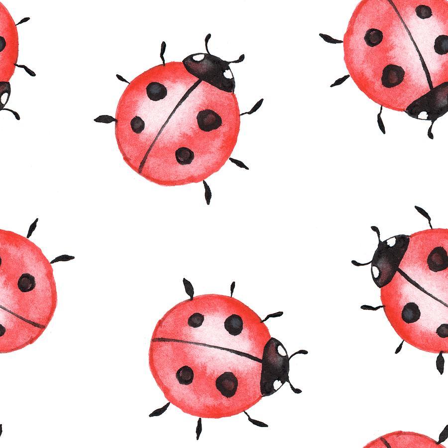 Ladybugs. Seamless Pattern 1 Digital Art by Ogri