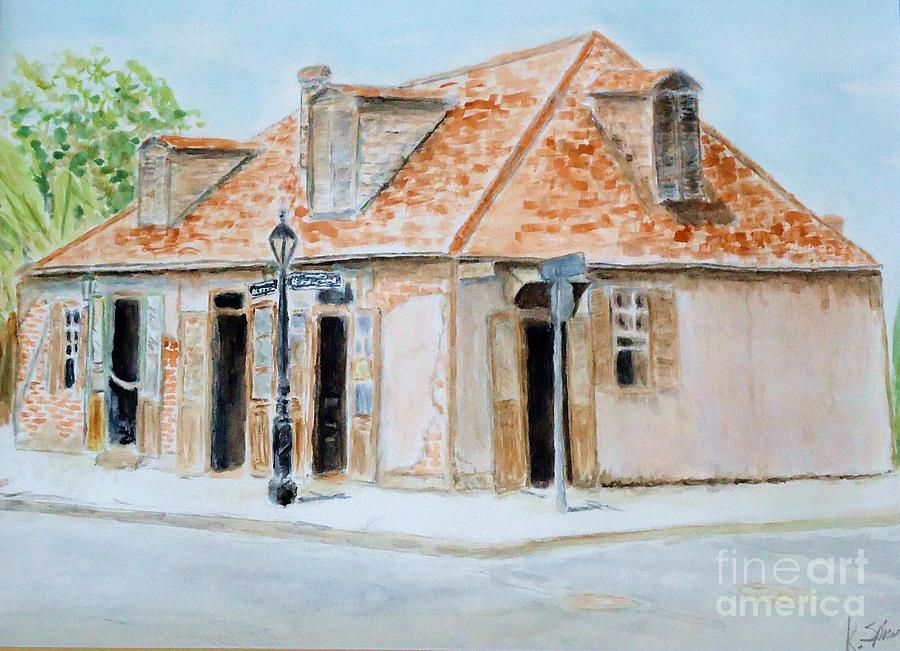 Jean Lafitte Painting - Lafittes Blacksmith Shop by Katie Spicuzza