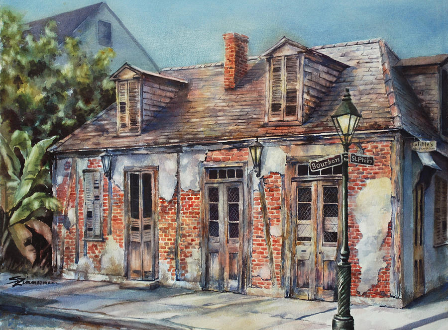 Lafitte Painting - Lafittes Blacksmith Shop by Sue Zimmermann