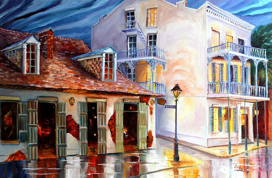 New Orleans Painting - Lafittes Guest House On Bourbon by Diane Millsap