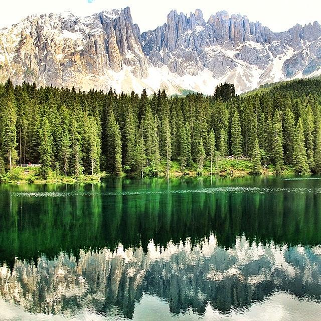 Nature Photograph - #lago Di #carezza #altoadige #südtirol by Luisa Azzolini