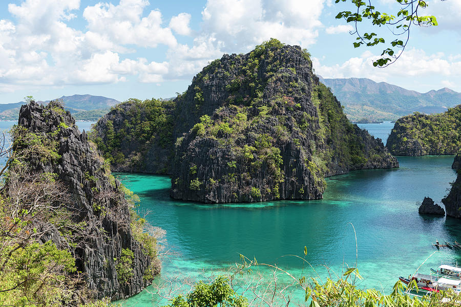 Lagoon In Coron, Palawan, Phillippines Photograph by John Harper