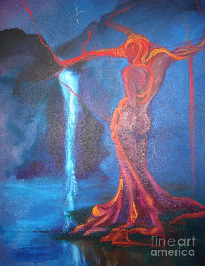 Lagoon Lady Painting by Allison Kohn