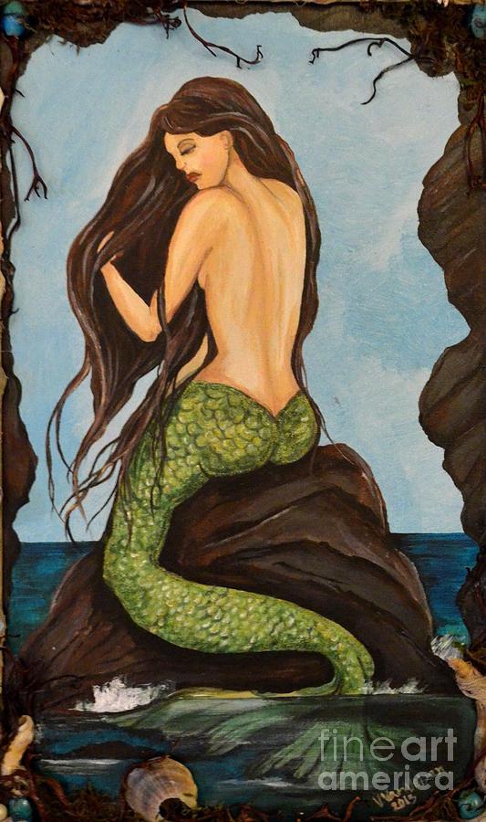 Mermaids Painting - Laguna Beach Mermaid Marina by Valarie Pacheco