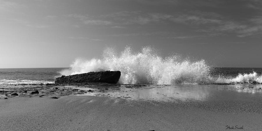 Bay photograph laguna beach pano black and white by heidi smith