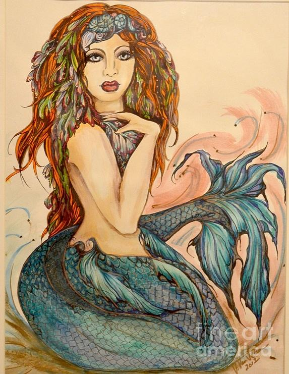 Pen And Ink Painting - Laguna Blue by Valarie Pacheco