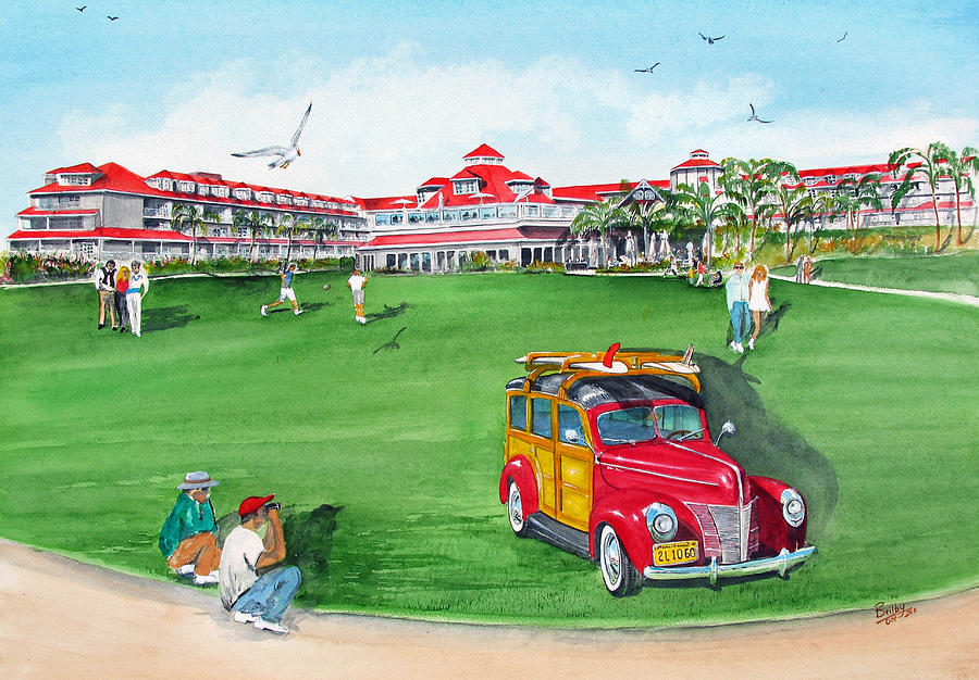 Marriot Hotel Painting - Laguna Cliffs by Rob Beilby