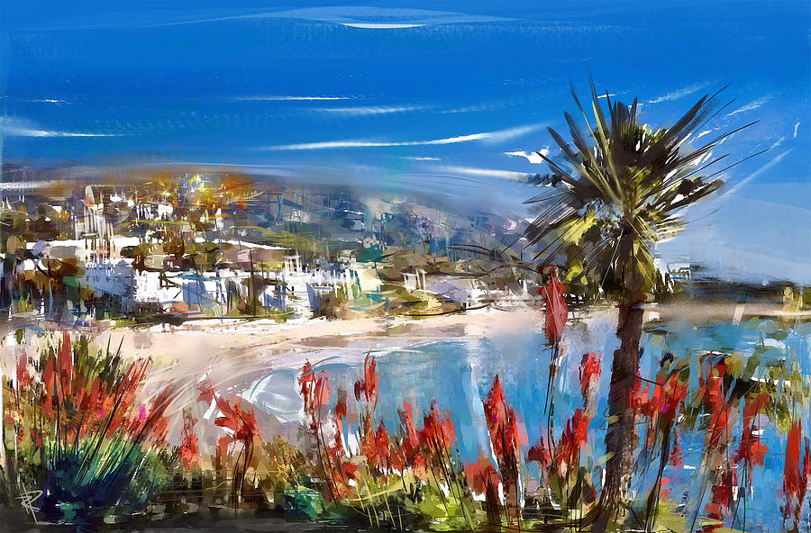 Laguna Beach Mixed Media - Laguna Sparkle by Russell Pierce