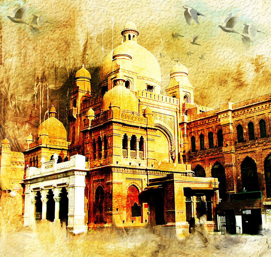 Pakistan Painting - Lahore Museum by Catf