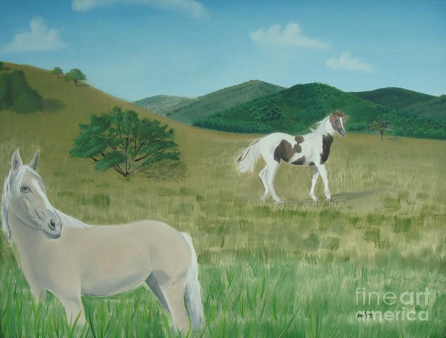 Horse Painting - Lajas Valley by Angela Melendez