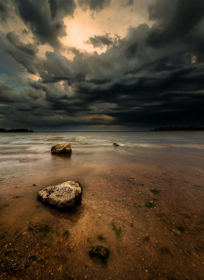 Lakes Photograph - Lake and Clouds by Garett Gabriel