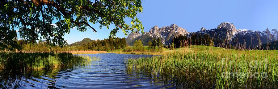 Lake And Mountains Panorama Photograph