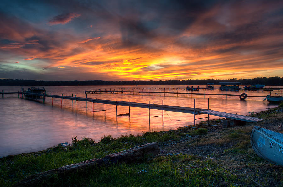 Lake at Sunset by At Lands End Photography
