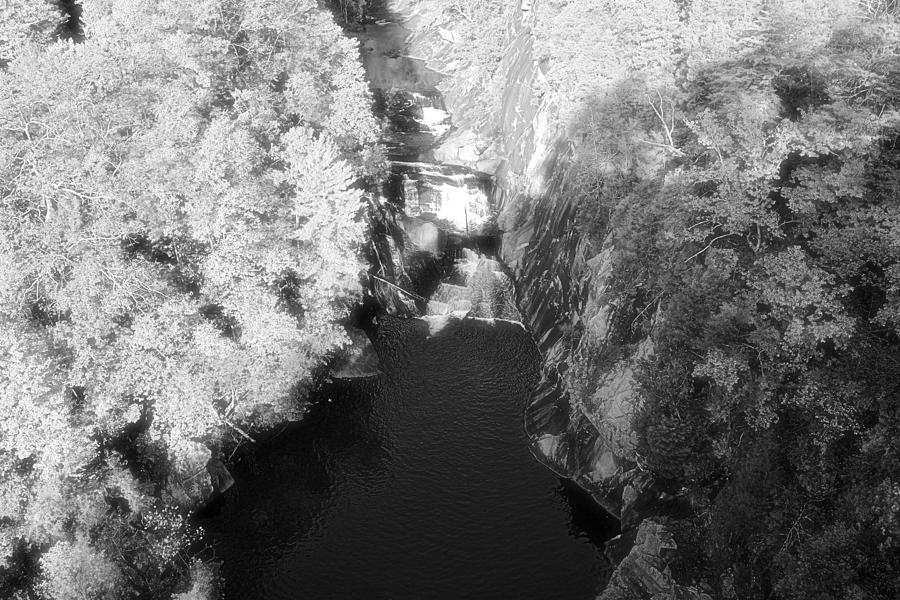 Infrared Photograph - Lake Beneath The Cliffs by James Potts