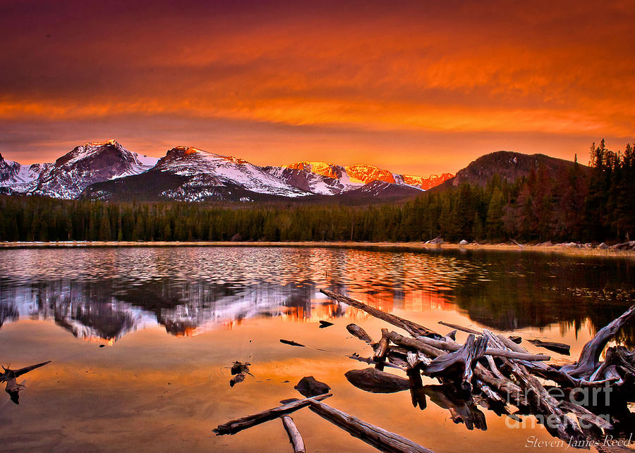 Sunrise Photograph - Lake Bierstadt In The Morn by Steven Reed