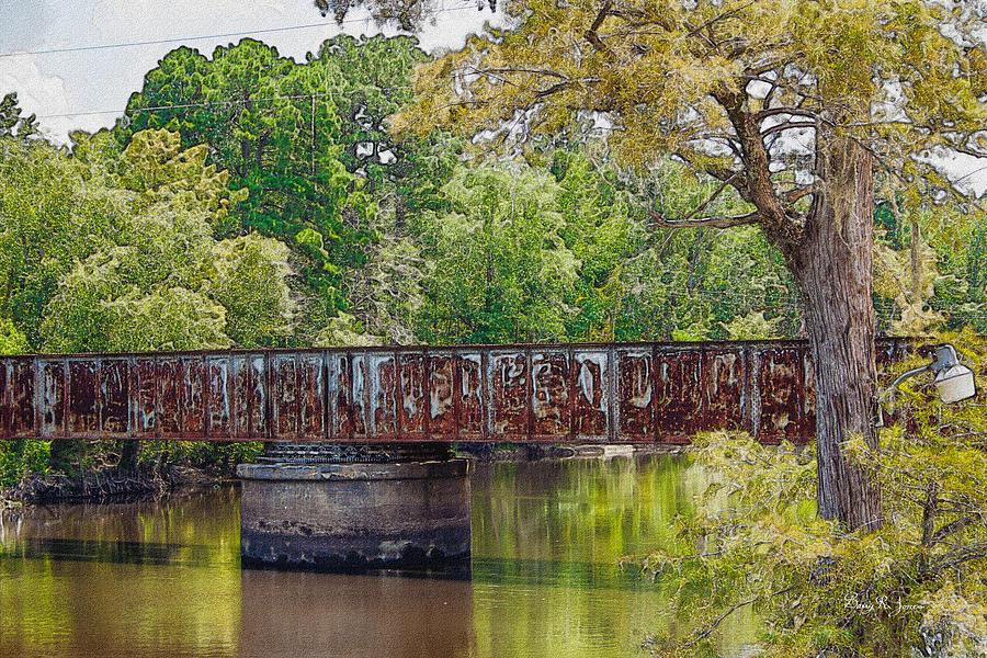 Louisiana Photograph - Lake Bistineau Train Trestle by Barry Jones