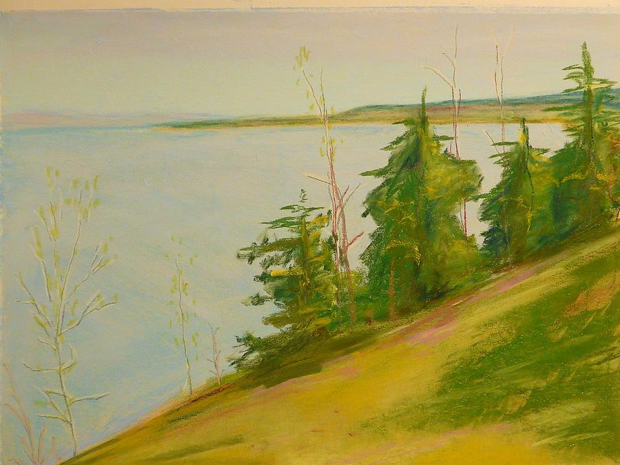 Lake Pastel - Lake Champlain by Valerie Lynch