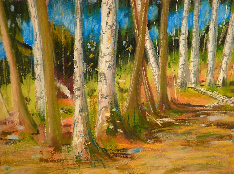 Pastel Painting - Lake Champlain Woods by Valerie Lynch