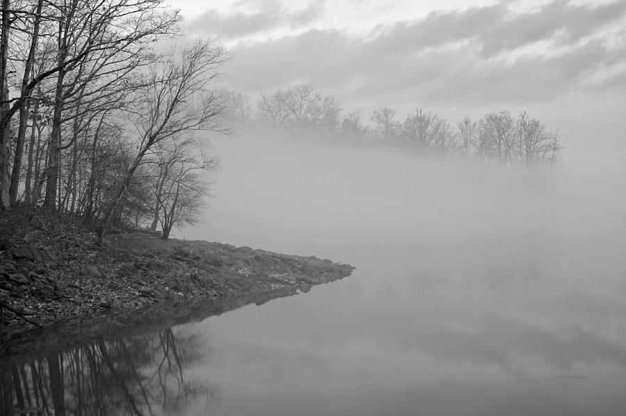 Lake Chatuge Photograph - Lake Chatuge Lost In Fog by Kenny Francis