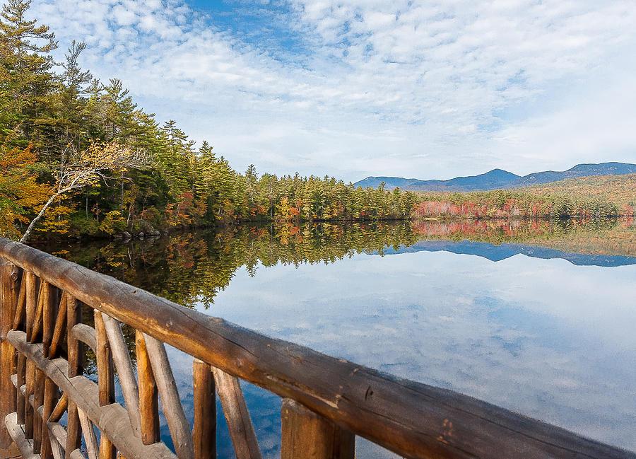 Karen Stephenson Photography Photograph - Lake Chocorua And Mount Chocorua From Bridge  by Karen Stephenson
