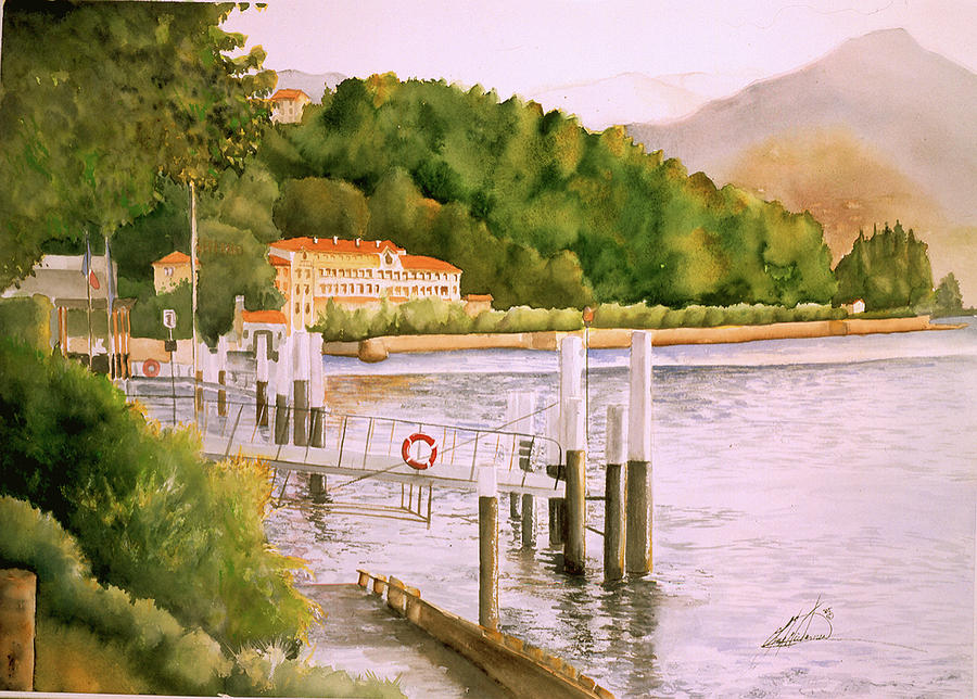 Italy Painting - Lake Como by Leah Wiedemer