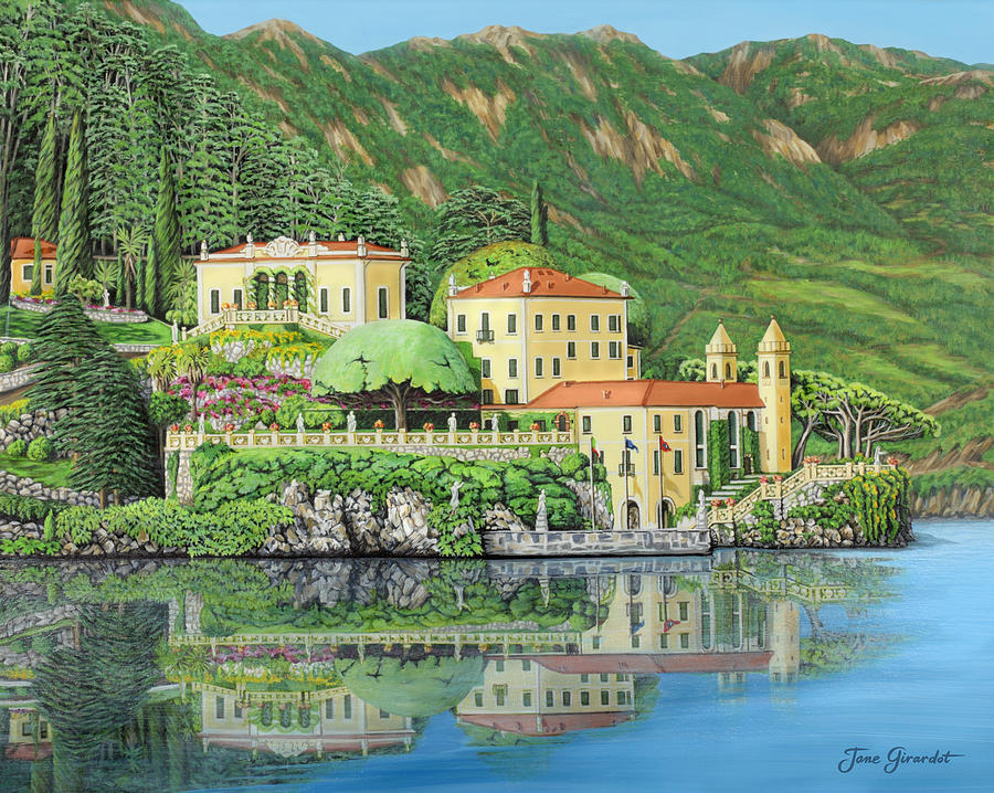Lake Painting - Lake Como Morning by Jane Girardot