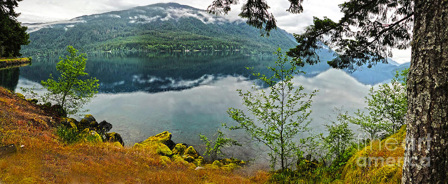 Lake Crescent Photograph - Lake Crescent - Washington - 02 by Gregory Dyer