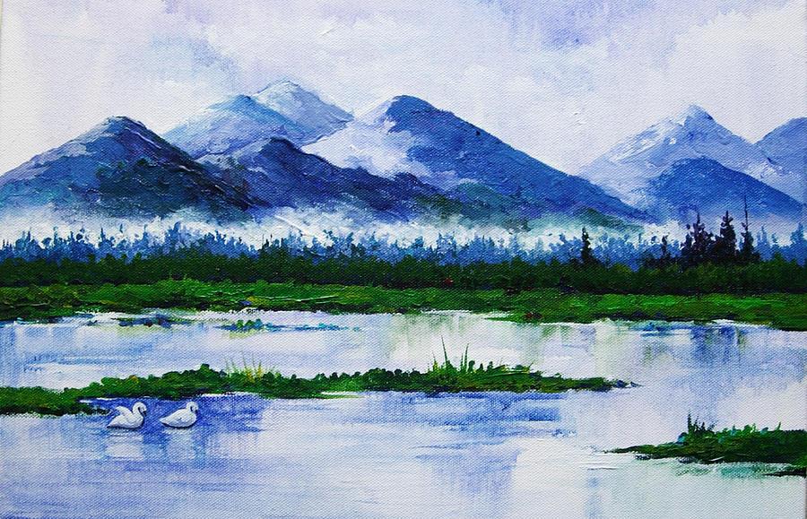 Landscape Painting - Lake by Deepali Sagade