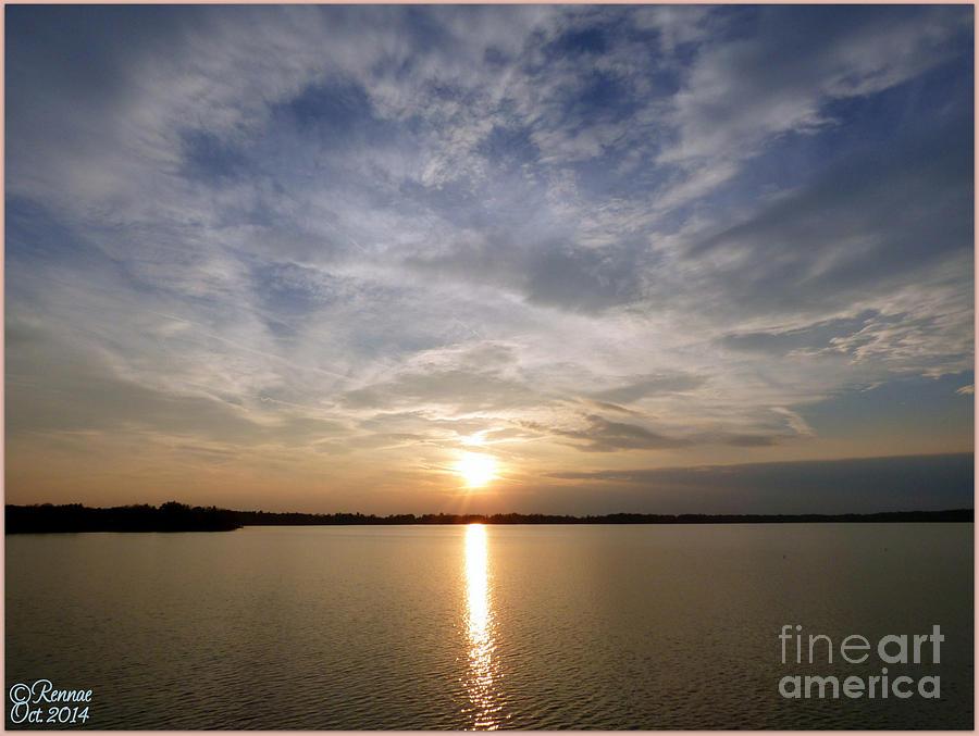 Water Photograph - Lake Delta Sunset by Rennae Christman