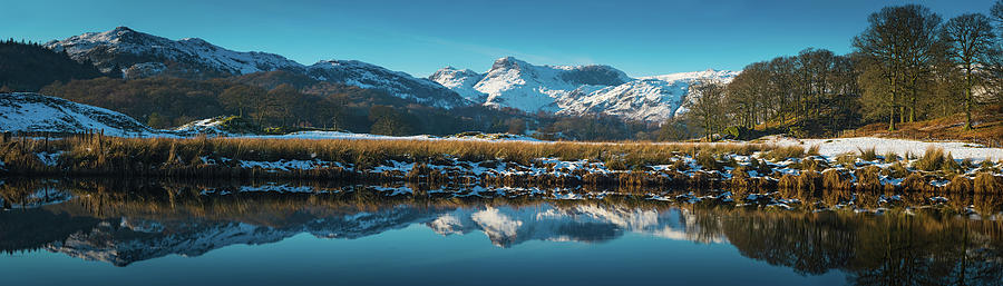 Lake District Snowy Winter Mountain Photograph by Fotovoyager