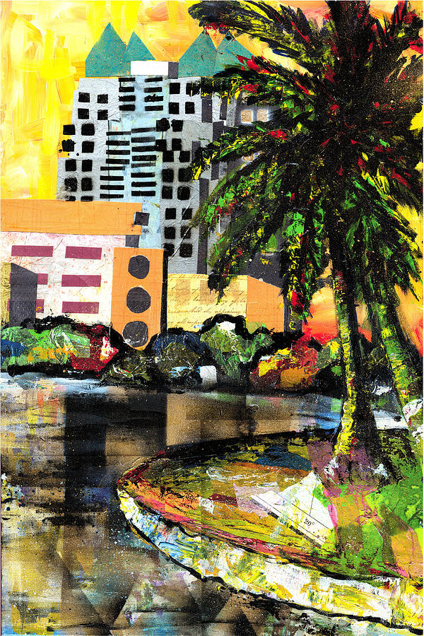 Orlando Painting - Lake Eola - Part 3 Of 3 by Everett Spruill