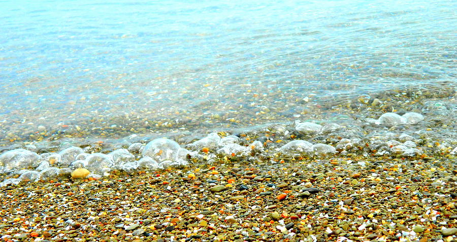 Lake Erie Bubble Waves  by Kathy Barney
