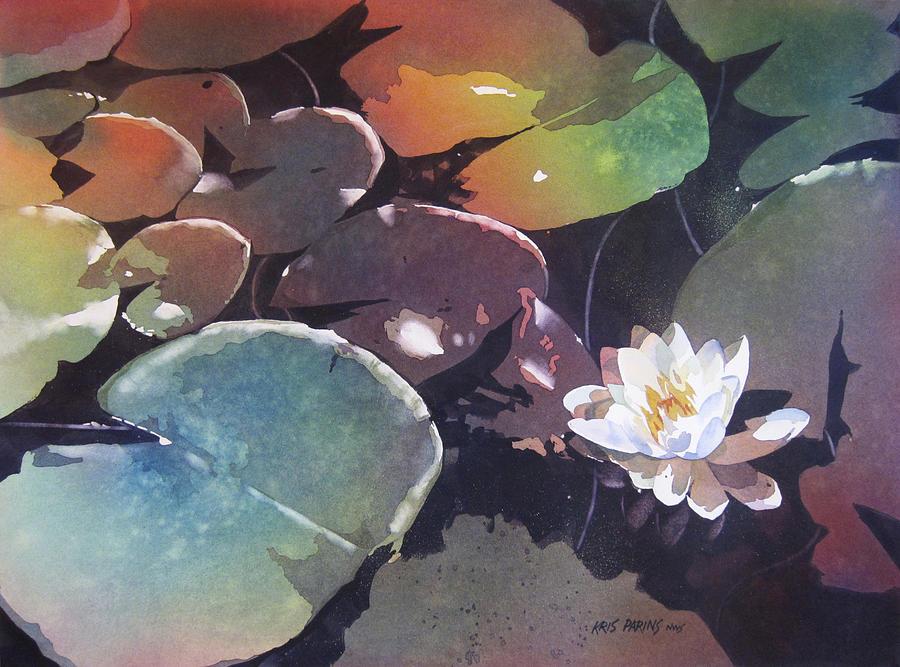 Watercolor Painting - Lake Garden by Kris Parins