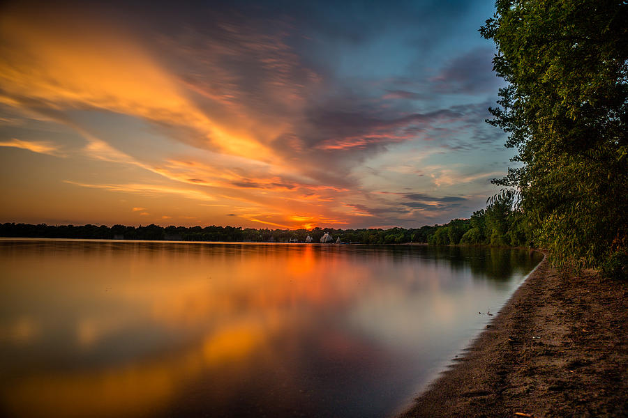 Lake Photograph - Lake Harriet Grand Finale by Mark Goodman