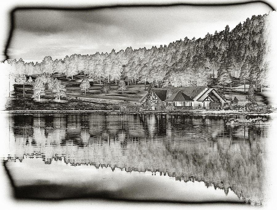 Lake House Photograph - Lake House Reflection by Ron White