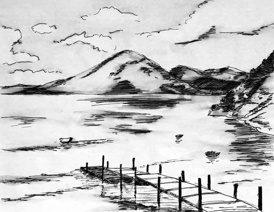 Lake Atitlan Painting - Lake In Guatemala by Masha Batkova