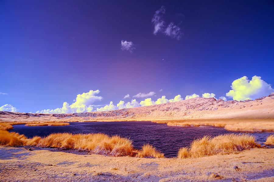 Chile Photograph - Lake In Rano Raraku Crater by Jess Kraft