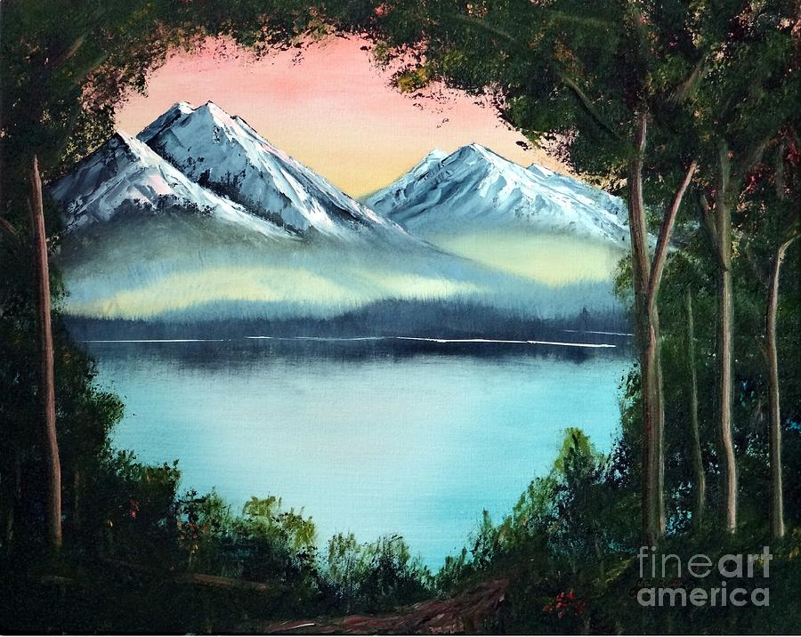 Landscape Painting - Lake In The Forest by Stephen Schaps