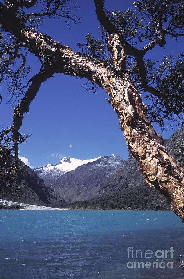 Peru Photograph - Lake Llanganuco Peru by James Brunker