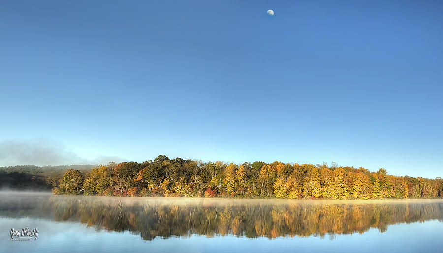 Lake Logan Fall Panorama by Roman Wilshanetsky
