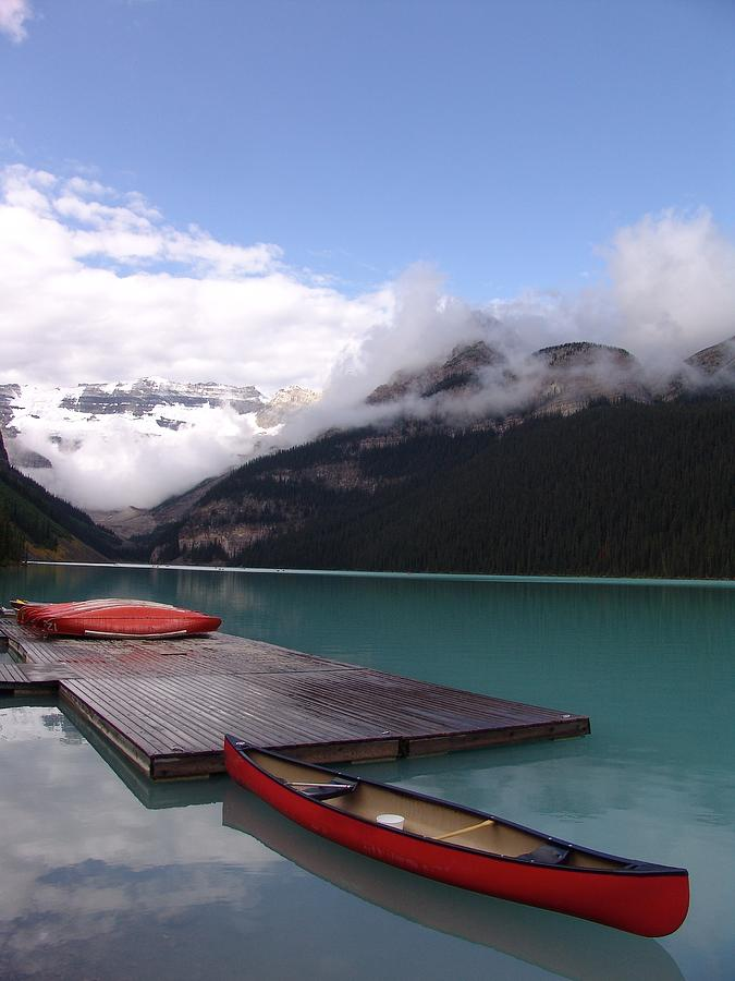 Calm Canoeing Morning - Lake Louise, Banff, Alberta Photograph